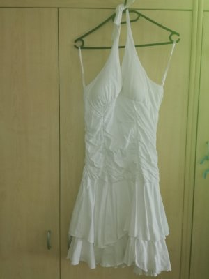 Robe stretch blanc