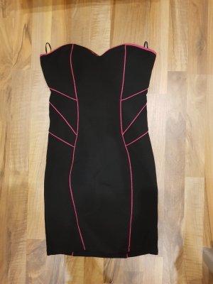 Bandeaujurk zwart-roze