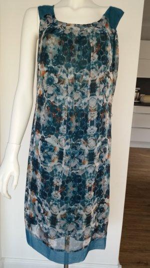 Kleid A-Form, in schönem blauton, petrol