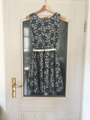 Kleid A-Linie ausgestellt Skaterkleid Blumenmuster