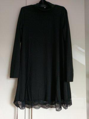 Kleid A-Linie XS S Schwarz Neu Spitze Lace