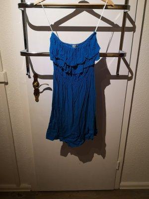 Off the shoulder jurk blauw
