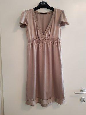 Set Babydoll Dress light brown silk