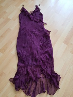 Flounce Dress purple-brown violet