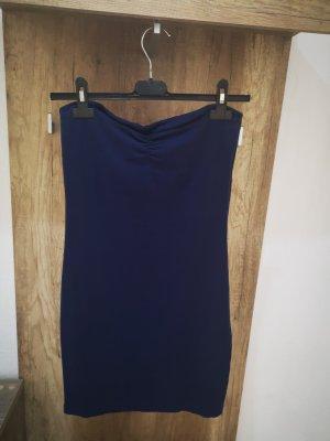 Amisu Vestido strapless azul-azul oscuro