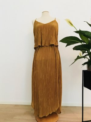 H&M Midi-jurk oker Polyester