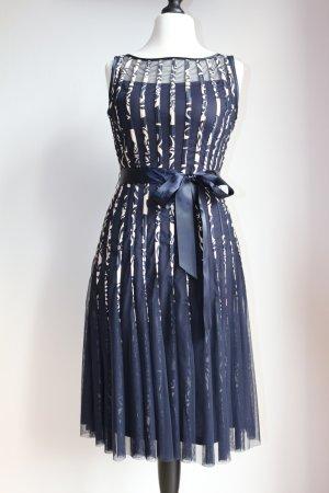KLEID - Abendkleid, Cocktailkleid, nachtblau, Größe 38
