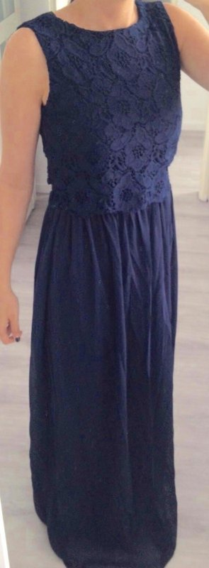 Kleid Abendkleid Land blau spitze