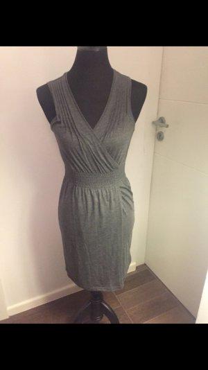 Kleid Abendkleid Legeres Kleid ärmellos grau leicht Glitzer tailliert