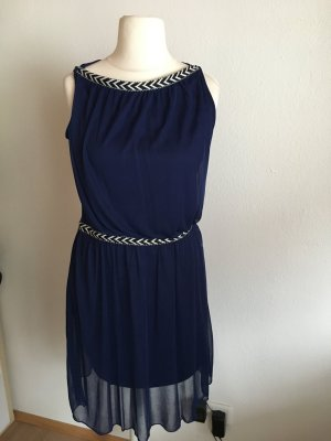 Kleid Abendkleid Minikleid sexy dunkelblau Gr. 36/38