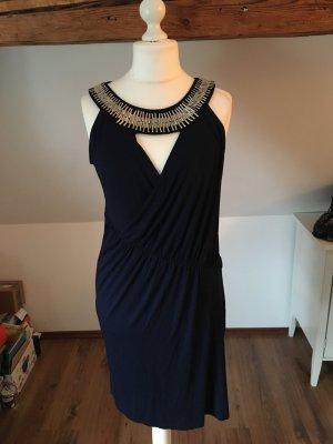 Kleid Abendkleid Nicowa 42 44 blau Silber Cocktailkleid