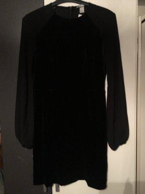 Kleid Abendkleid Samtkleid Samt Chiffon Ärmel M 38