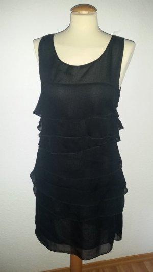 Kleid Abendkleid Vollants Gr. 40 schwarz