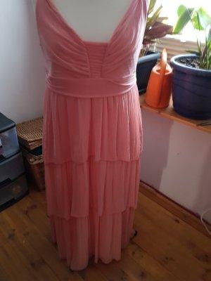 H&M Vestido estilo flounce rosa empolvado