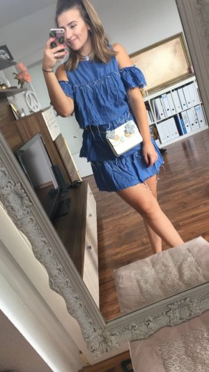 Zara Robe bleu acier