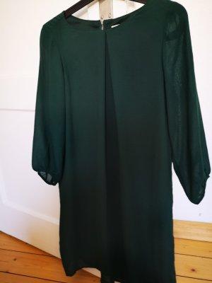 H&M Vestido línea A verde bosque