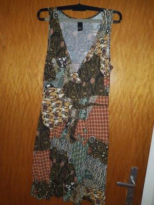 BC Collection Robe à bretelles gris brun-cognac