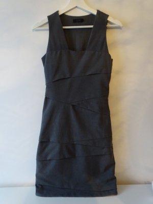 Kleid Ärmellos Reißverschluss Falten Grau Gr. 36 COS (NP: 75€)