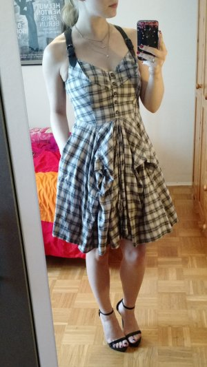 Kleid All Saints Gr. S M 36 38 (10) Karo midi rockabilly blogger asymmetrisch