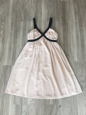 H&M Midi Dress dusky pink-black polyester