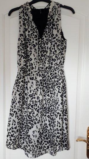 Mango Dress white-black