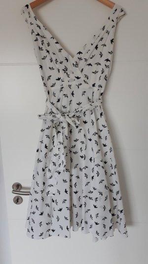 Anmol Midi Dress white-black