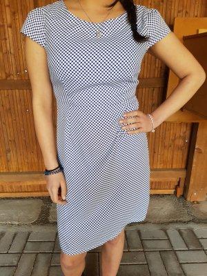 Vestido de noche blanco-azul