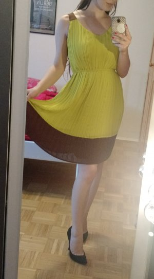 A Line Dress lime yellow-brown