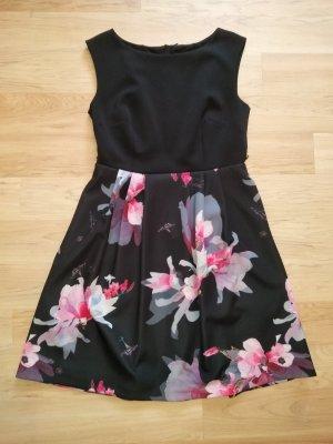 Kleid Apricot P&C Gr. L XL 42 schwarz Blüten wie neu