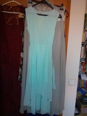 Robe chiffon turquoise