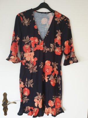 Asos Midi Dress black-orange