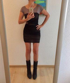 Kleid ASOS Club Disco Gr. S / 36 Schwarz Beige Abendkleid Minikleid