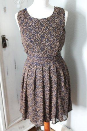 Kleid ASOS Punkte Minikleid Marineblau
