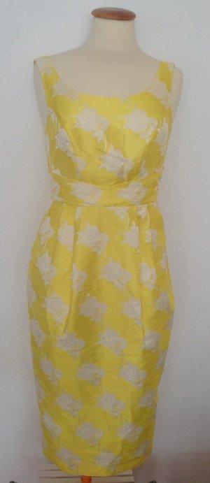 Kleid asos Sonnengelb/ weiß g.36