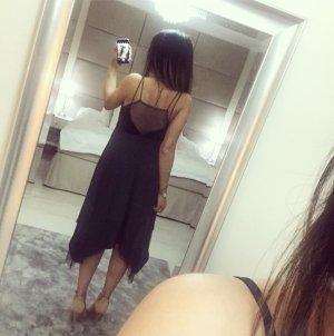Kleid asymmetrisch und mit Netz versetzt zara
