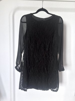 Kleid ATMOSPHERE schwarz spitze floral langarm schick