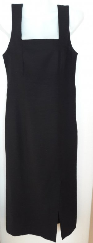 Kleid aus 100% Leinen in schwarz