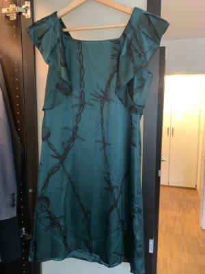 Snob Vestido estilo flounce petróleo-verde bosque