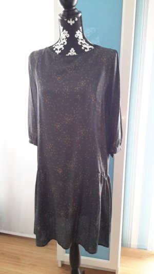 Attic & Barn Dress dark blue silk