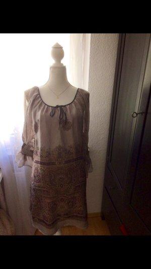 Kleid aus 100% Seide Zara Goa Muster M