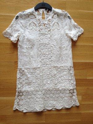 Kleid aus Baumwolle Spitze und Stickerei