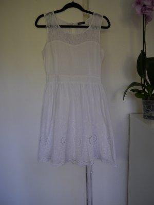 Kleid aus Baumwolle, Weiß, Gr. 38/M