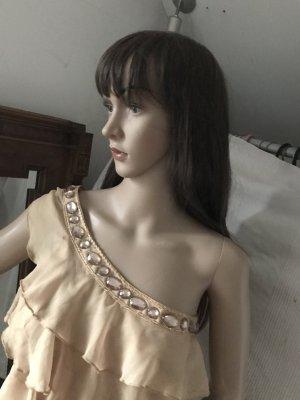 Kleid aus Chiffon, eine Seite mit andere ohne Träger