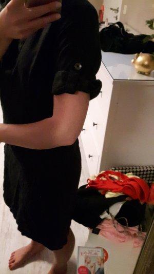 Kleid aus Leinen in schwarz