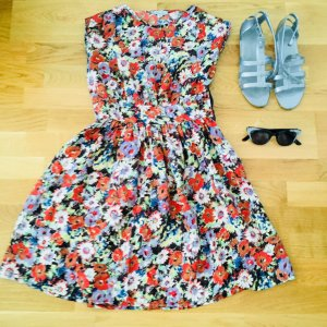 Kleid aus Seiden - Vintage silk flower summer dress