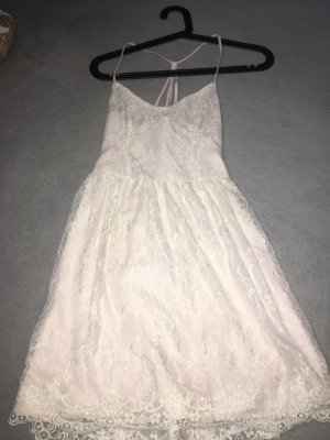 Abercrombie & Fitch Pinafore dress rose-gold-coloured-white