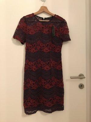 Kleid aus Spitze Burgunder & Blau, NEU mit Etikett