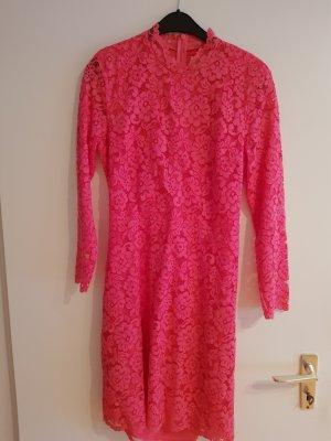kleid aus spitze in pink von h&m