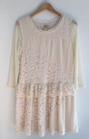 Kleid aus Spitze von H&M 38 M creme