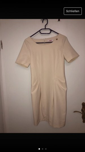 Blugirl Folies Mini vestido amarillo claro-crema